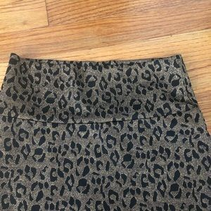 LuLaRoe Skirts - Sparkly black and gold leopard pencil skirt